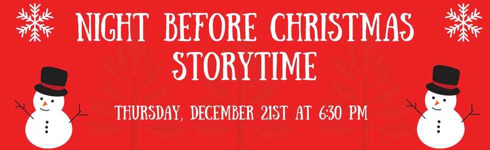 Night Before Christmas Storytime!