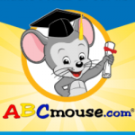 ABCmouse.com available free at our library! Books, games, puzzles, art, songs, and more! Image of graduating mouse.